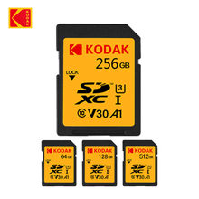 KODAK tarjeta SD V30 C10 100 MB/s tarjeta Flash de 16GB 32GB 64GB 128GB 256GB 512GB SDXC SDHC Clase 10 tarjeta de memoria para cámara Digital DSLR