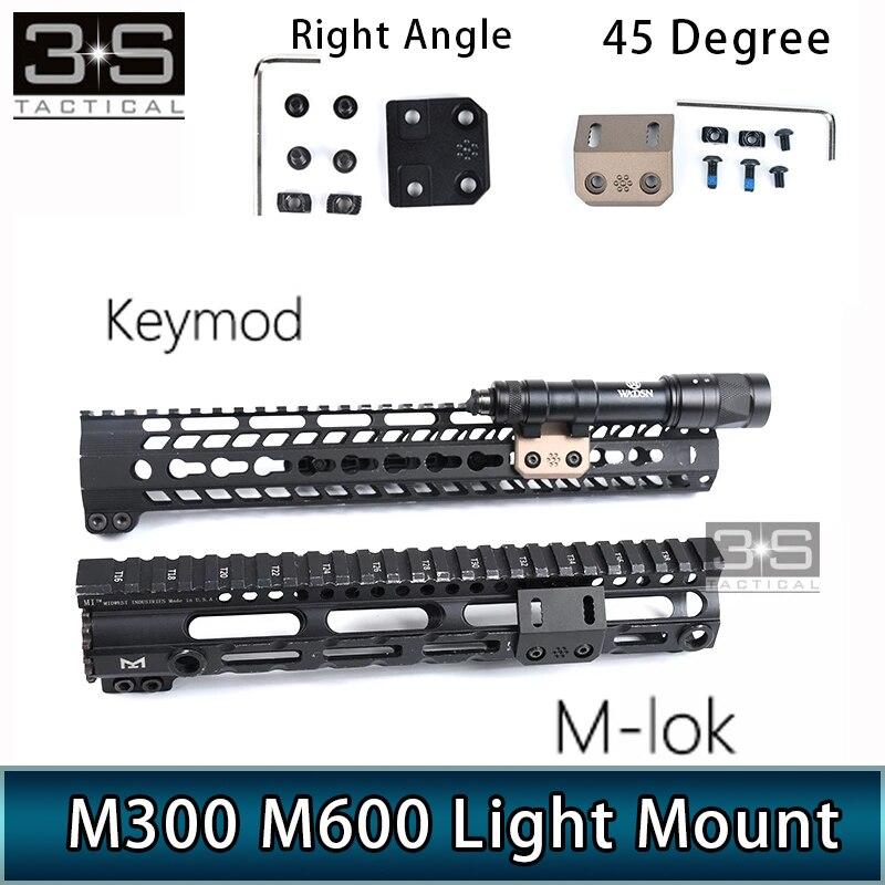 MLOK Keymod рельсовый фонарь с креплением для крепления на опору, страйкбол для Surefir M300 M600 M600DF, охотничье оружие