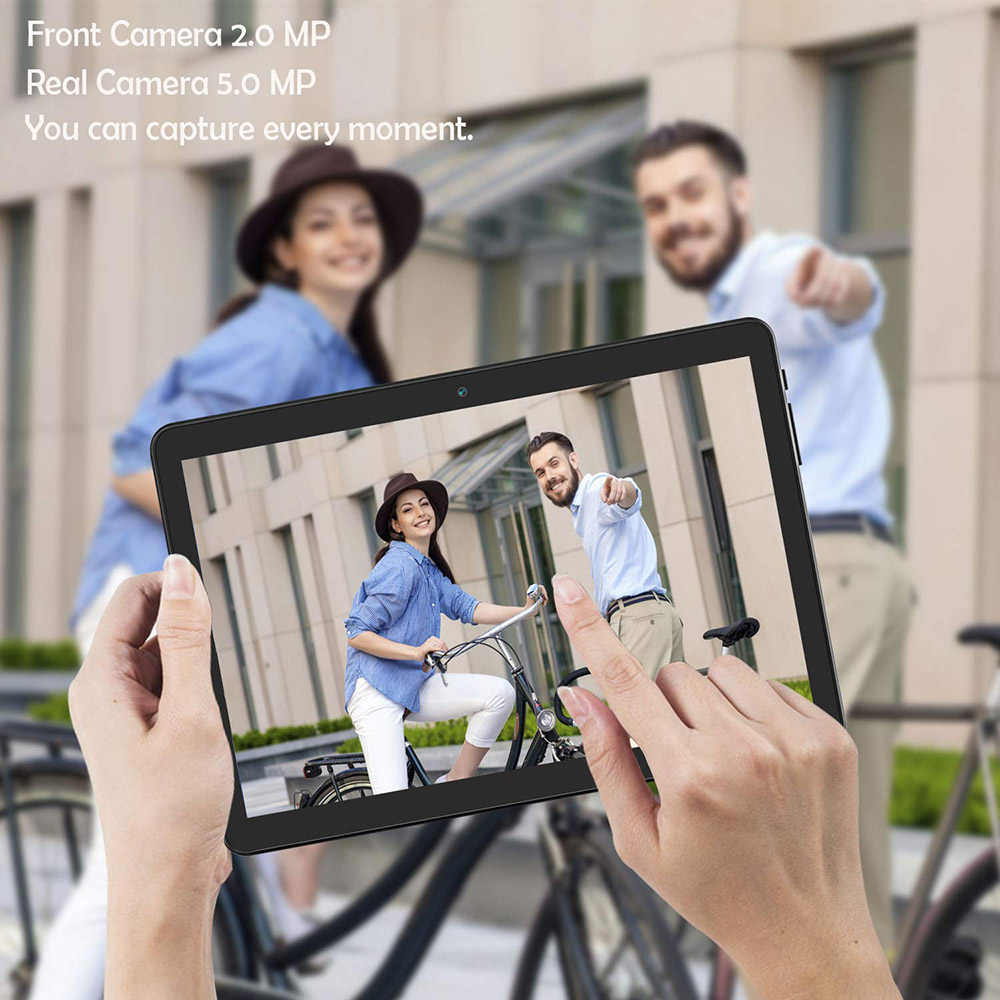 10.1 Inci Tablet Quad Core 4 GB RAM 32 GB ROM 1280 800 IPS Android 7.0 GPS Bluetooth FM WIFI tablet PC Ponsel 3G Call