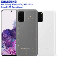 Samsung Original Intelligent LED Cover For Samsung Galaxy S20 S20+ S20 Ultra Smart LED Back Cover Emotional Led Lighting Effect