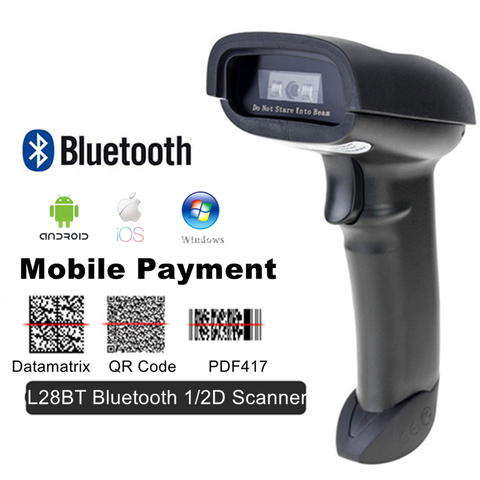 bluetooth 1d 2d qr pdf417 handheld do pagamento movel do varredor do codigo de barras