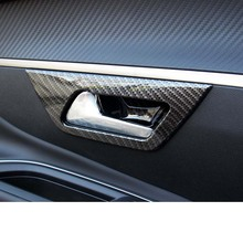 Lsrtw2017 Stainless Steel Car Inner Door Handle Frame for Peugeot 3008 5008 Accessories lsrtw2017 stainless steel car lower window trims for peugeot 5008 accessories