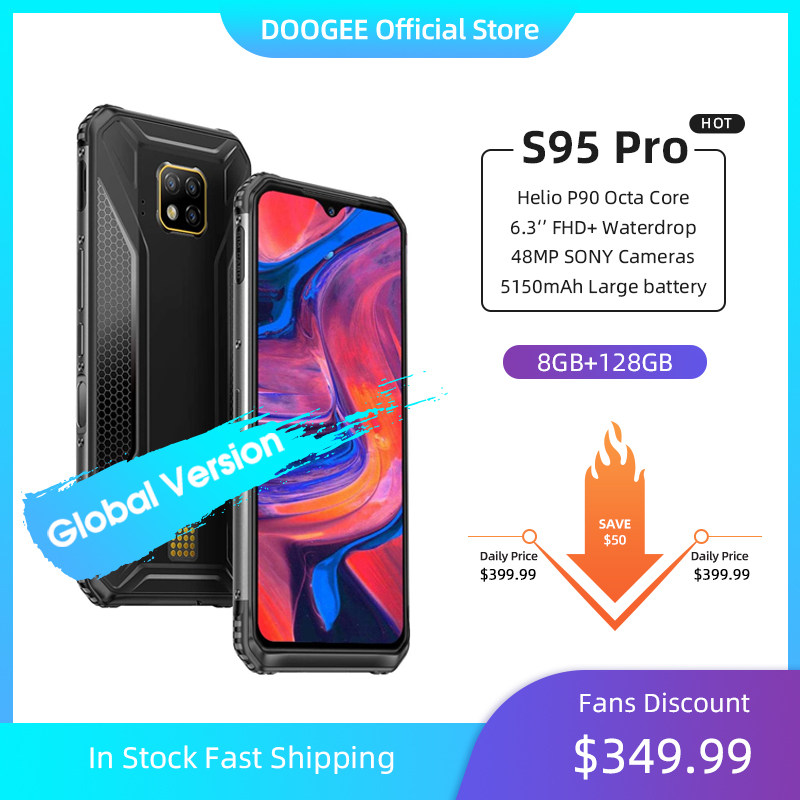 IP68/IP69K DOOGEE S95 Pro Helio P90 Octa Core 8GB 128GB Modular Rugged Mobile Phone 6.3inch Display 5150mAh 48MP Cam Android 9(China)