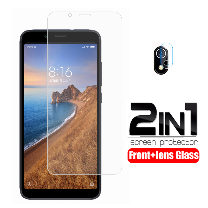 2-in-1 Camera Lens Protective Glass For Xiaomi Redmi 7a Screen Protector On Xiomi Xaomi Redmi 7a Glass Redmi7a 7 A A7 Armor Film
