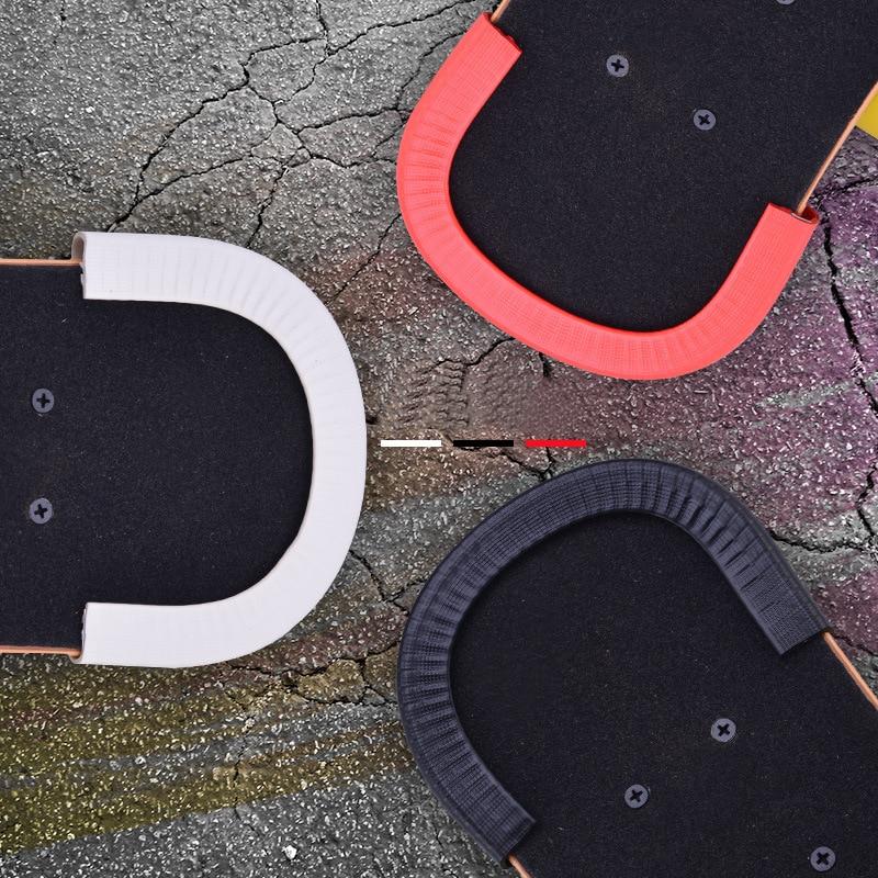1 pair Universal 30cm Skateboard Deck Guards Protector U Design Rubber Bumpers Bump Long board Dance Board Crash Rubber Strip