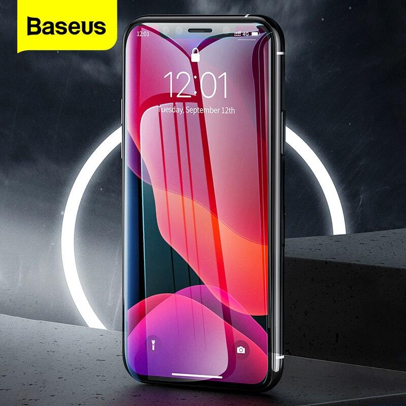 Baseus 2Pcs 0.3 millimetri Protezione Dello Schermo Per il iPhone 12 11 Pro Xs Max Xr X Copertura Completa di Protezione Temperato vetro Per il iPhone 12 Pro Max