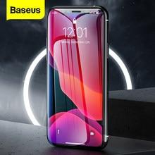 Baseus 2 pçs 0.3mm protetor de tela para iphone 12 11 pro xs max xr x capa completa proteção vidro temperado para iphone 12 pro max