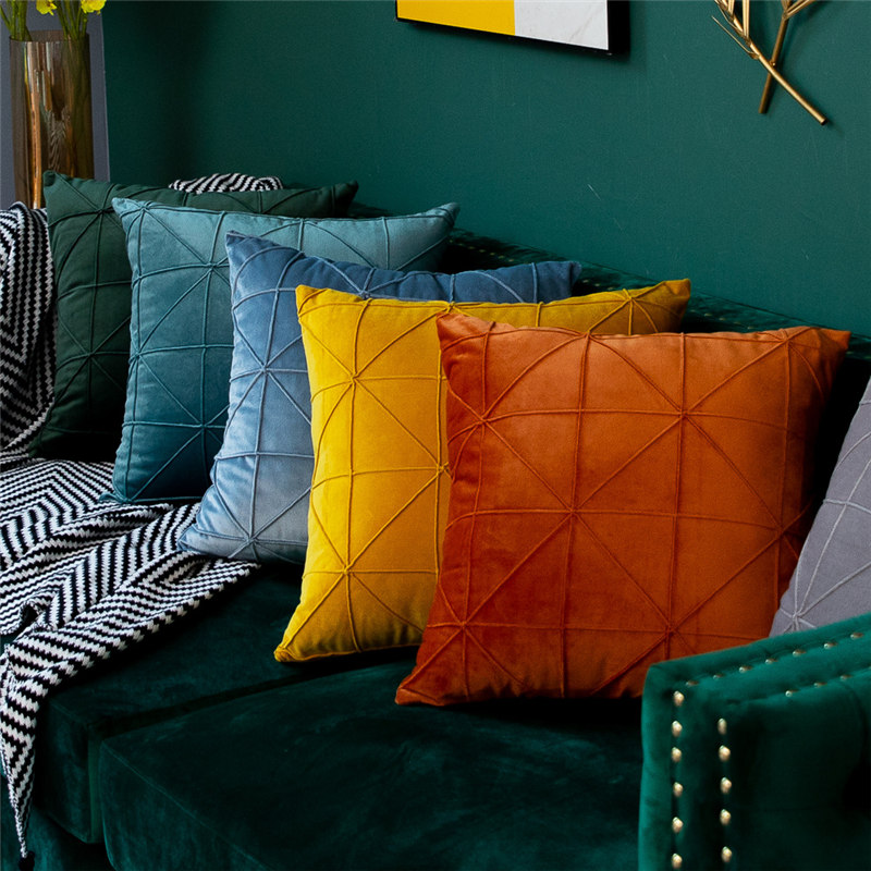 Velvet Soft Throw Sofa Car Cushion Cover Decorative Rectangle Square Solid Waist <font><b>Pillow</b></font> <font><b>Case</b></font> Living Room 45x45 <font><b>30x50</b></font> image