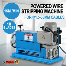 Electric Wire Stripping Machine DA 1.5mm-38mm Portable Powered Comercial 1/2HP Cable Stripper