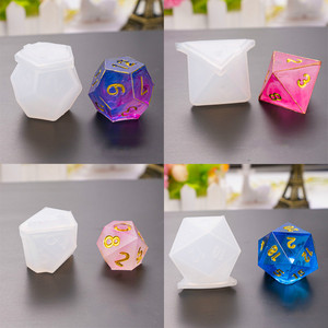 Cube Dice with Letters Silicone Mold Polyhedral Die Mold Gamer Dice Mold UV Resin Mould Epoxy Resin Mold Board Game Dice DIY(China)