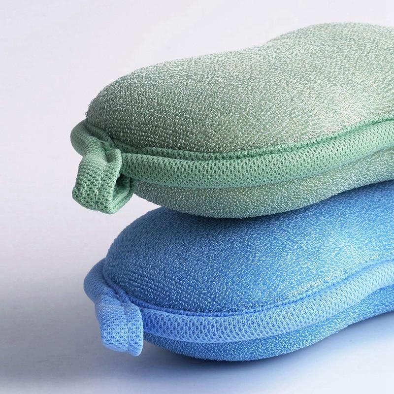 Fiween 2 Pack Natural Bamboo Baby Bath Sponge,Ultra Soft and Absorbent Sponge for Babys Sensitive Skin,Shower Sponge Set for Newborn