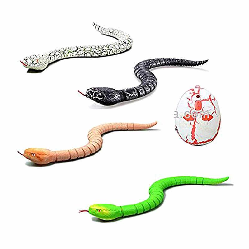 RC Động Vật Đồ Chơi Trẻ Em Điều Khiển Từ Xa Loài Rắn Lục Lạc Đồ Chơi Trẻ Em Nhựa Lừa Đáng Sợ Vành Khăn Đồ Chơi Đầu Quà Tặng Sinh Nhật