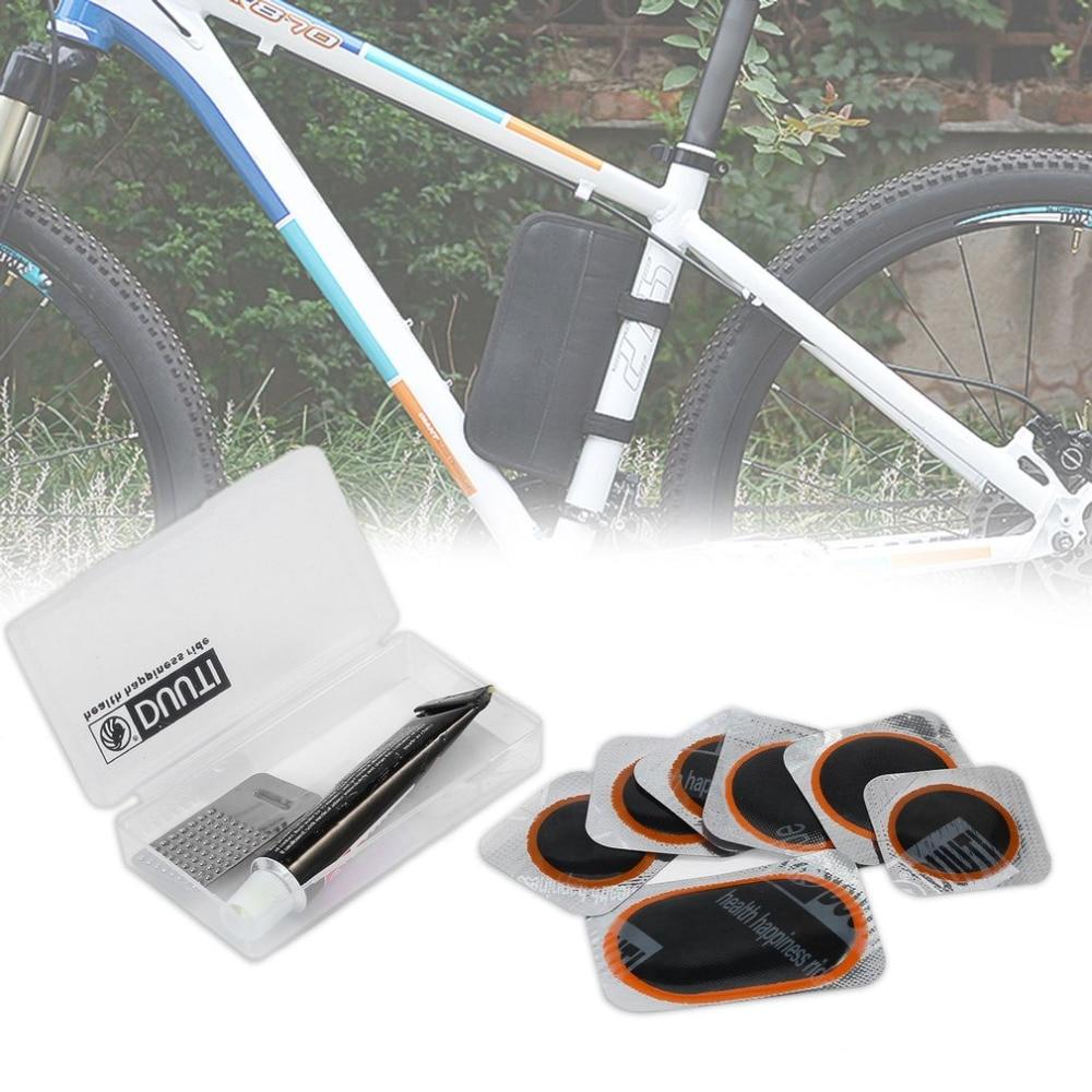New Bike Cycling Bicycle Bike Repair Fix Kit Flat Rubber Tire Tyre Tube Patch Glue Set Bicycle Bike Repair Accessories Hot Sale