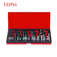 131PCS Car Moto Thread Tapping Repair Tool Kit M5 M6 M8 M10 M12 Hand Tap Drill Set Hand Tools Stainless steel screw sleeve