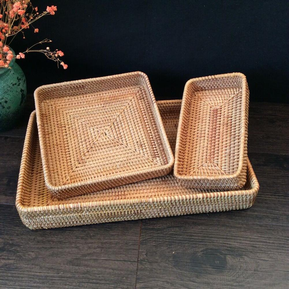 Large Woven Seagrass Basket Of Straw Wicker For Home Table Fruit Bread Towels Small Kitchen Storage Container Set
