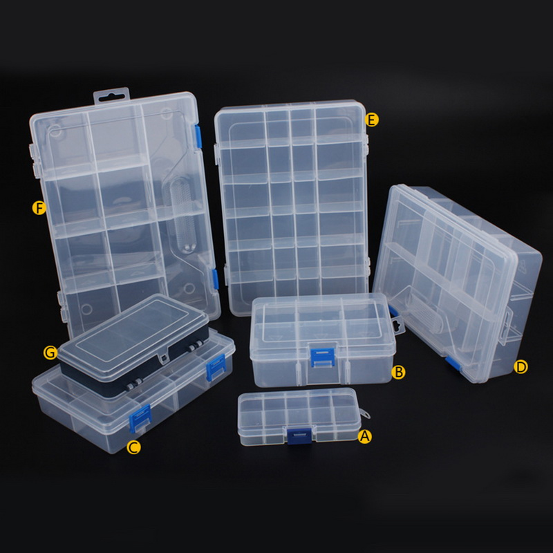 1PC 7Size Jewelry Plastic Home Tool Box For Tool Electronic Components Storage Box Combination Screw Finishing Storage Toolkit
