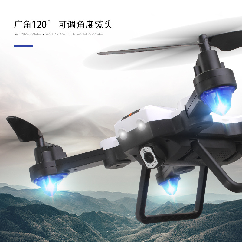 Free Luo To F22g Folding Quadcopter Optical Flow Positioning Remote Control Aircraft High-definition Wide-angle Drone For Aerial