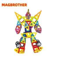 Magnetic Blocks Magnet Construction Building Set Magnetic Designer Educational Toys For Children Big Size MAGBROTHER
