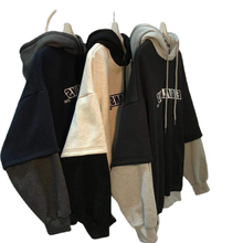 TripleLeaf Autumn And Winter Clothes Brushed And Thick Hoodie Hooded Men's And Women's Loose Korean-Style Students All-Match