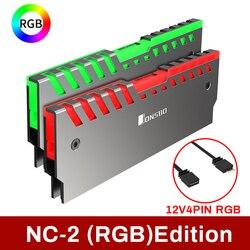 Jonsbo Nc 2 2 sztuk pamięć ram radiator Cooler wsparcie płyta główna pulpitu Aura sterowania kolor ARGB/RGB stopu aluminium Cooler Shell w Wentylatory i chłodzenie od Komputer i biuro na