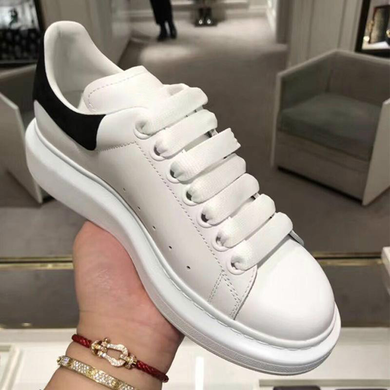 2019 New Spring Autumn Genuine Leather Sneakers Women Flat Shoes Popular INS Fashion White bloggers big size chic women Shoes