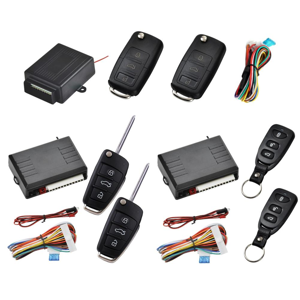 12-24V Universal Alarm System Car Auto Remote Central Kit Door Lock Locking Vehicle Keyless Entry System With Remote Controllers