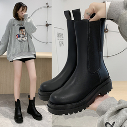 New Women Winter Warm Casual Boots Top Quality Fashion Boots Comfortable High Top Boots Soft Chelsea Boots Heightening Boots