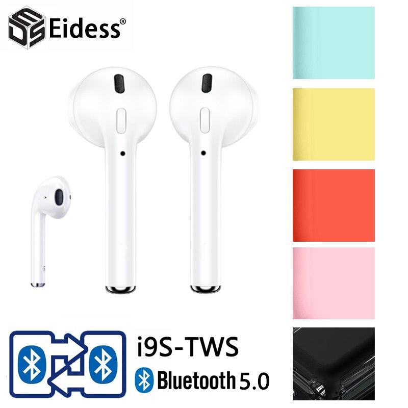 I9s TWS беспроводные Bluetooth наушники, гарнитура, зарядное устройство для xiaomi iphone PKi12
