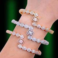 GODKI Luxury Trendy Saudi Arabia Bangle Silver Ring Set Jewelry Sets For Women Wedding Engagement brincos para as mulheres 2019