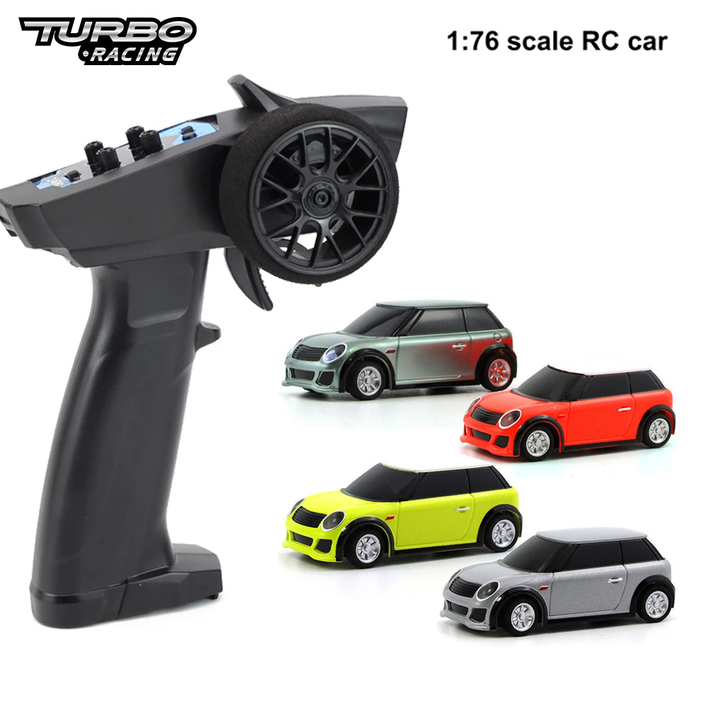 Turbo Racing 1:76 RC Car Mini Full Proportional Electric Race RTR Car Kit 2.4GHZ Racing Experience Car Kids Toys New Patent Car