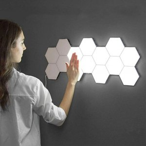 1 Pcs Quantum Lamp Led Lamp Modular Touch Sensitive Lighting Hexagonal Night Light Lamps Wall Lamp Hexagonal Wall Light