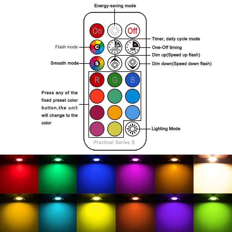 LED Downlight รอบ Multicolor Dimmable 7W RGBW LED เด็กเพดานแสงอินฟราเรดควบคุมสีเปลี่ยน 110V /220V