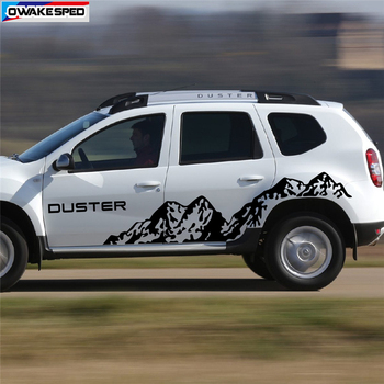 For Dacia Renault Duster Off Road Styling Stripes Mountain Graphics Stickers Car Body Door Side Decor Vinyl Decal