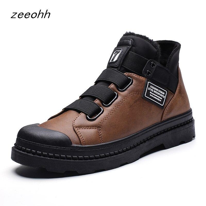 Fashion Sneakers Winter Plus Velvet Warm Men's Boots Brand Hot Sale High Quality Men's Casual Shoes Comfortable High Shoes