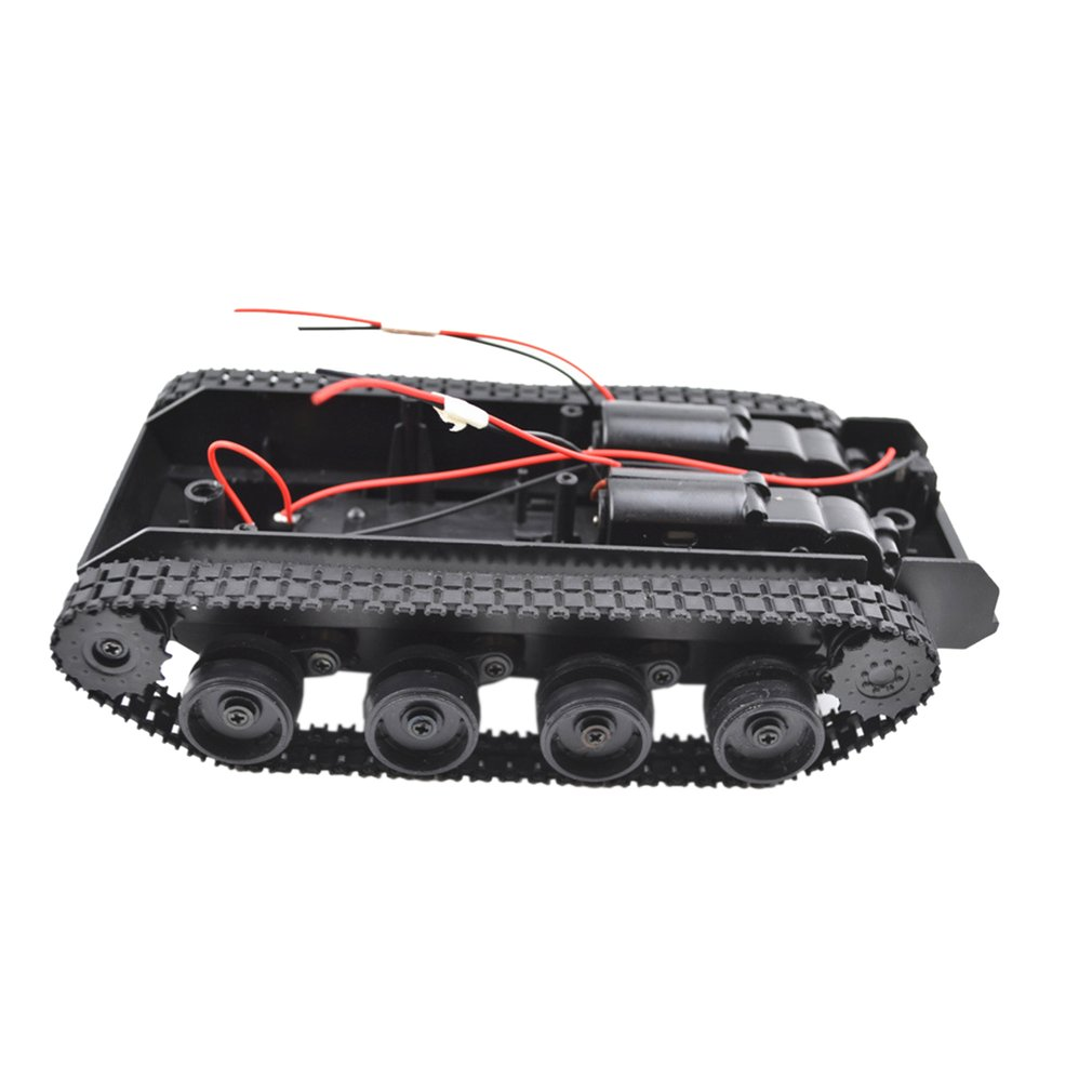 Car-Chassis-Kit Tank-Toys Tracked Vehicle Crawler Rubber RC Shock-Absorbing-Tank