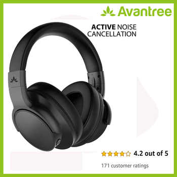 Avantree Bluetooth 4.1 Active Noise Cancelling Headphones with Mic, Wireless/Wired Foldable Stereo ANC Headphones - DISCOUNT ITEM  0% OFF All Category