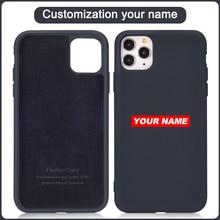 Custodia per telefono Di lusso Di marca Chris per iPhone 12 11 Pro Max Mini XR XS MAX 8X7 SE Design da polso in pelle per PC-Di Cover posteriore
