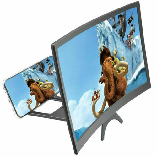12 Inch 3D Cell Phone Movie Curved Screen Enlarge Magnifier HD Expander Screen Projector Amplifier For Mobile Phone Video