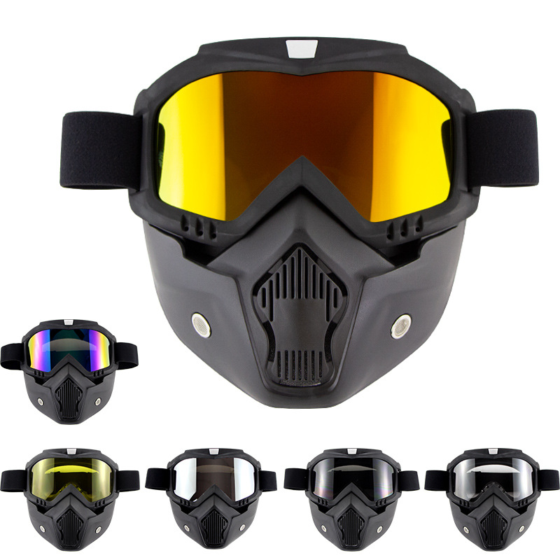 Ski Goggles Anti-fog Snowboard Mask Men Women Windproof Anti-UV Ski Glasses For Skiing Cycling Motocross Anti-fog UV Ski Goggles