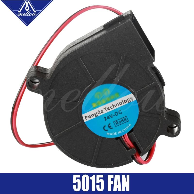 3D Printer Fan 5015 12V 24V 0.15A Sleeve Bearing Brushless Fan centrifugal for Reprap i3 DC Cooling Fan Turbo fan 5015S(China)