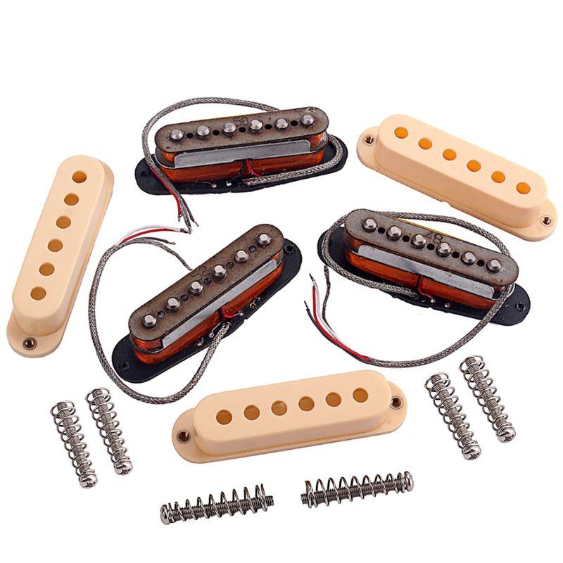 9 pièces/ensemble Double couche guitare électrique simple pick-up ensemble guitares instruments accessoires