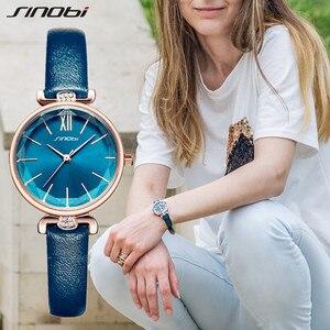 Image 1 - SINOBI montre genève pour femmes, bracelet de styliste, marque de luxe, diamant, Quartz, or, cadeaux pour dames