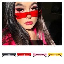 Новые прямоугольные женские солнцезащитные очки, модные дизайнерские красные розовые прозрачные маленькие линзы, индивидуальные очки для вождения, UV400