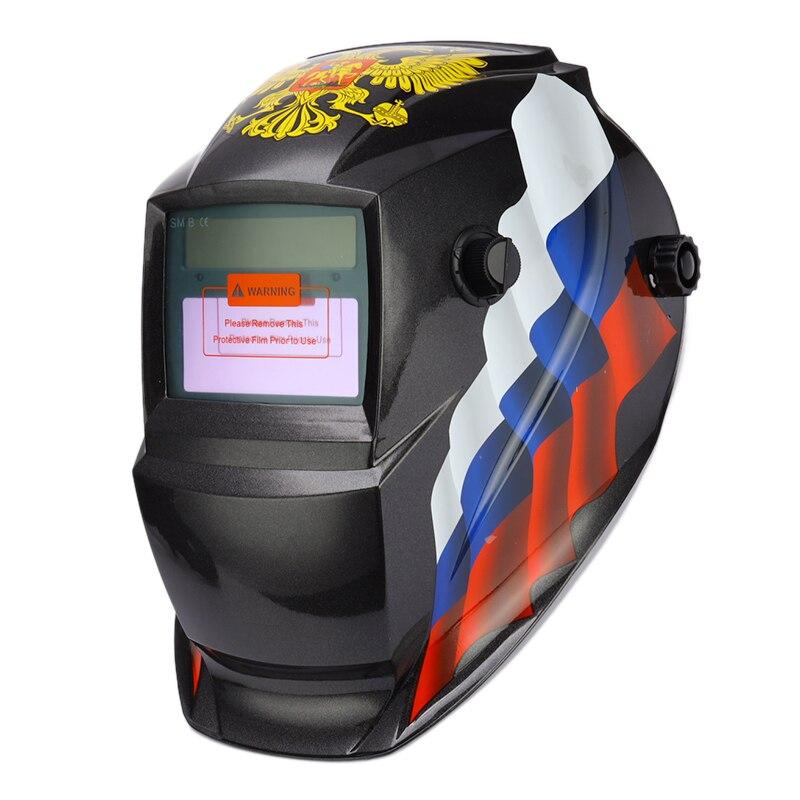 Schweißen Helm Maske Solar Auto Verdunkelung Einstellbare Schatten Palette DIN 9-13/Rest DIN 4 Schweißer Schutz Getriebe ARC MIG TIG
