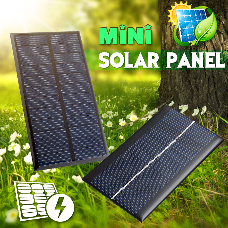 Solar Panel 2V 5V 6V 12V Mini Solar System DIY For Battery Cell Phone Chargers Portable Solar Cell 0.3W 0.8W 1W 1.2W 1.5W 2W 5W 1