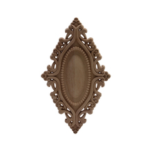 Wood-Decal Decoration Antique European Home-Corner-Doors Large Onlay Long Oval Hot-Sale