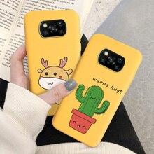 Poco X3 Pro Lovely Cactus Avocado Phone Case For Xiaomi Poco X3 NFC Case For Xiaomi PocoX3 F2 Pro Redmi K30 K20 Silicon Cover