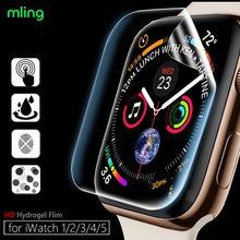 Not Glass Clear Full Coverage Protective Film for iWatch 4 5 SE 40MM 44MM Screen Protector Cover for Apple Watch 6 3 2 38MM 42MM cheap mling CN(Origin) Ultra-thin Hydrogel Film for Apple Watch Series 4 3 2 1 for Apple Watch Series 123 38MM 42MM for iWatch Series 4 40MM 44MM