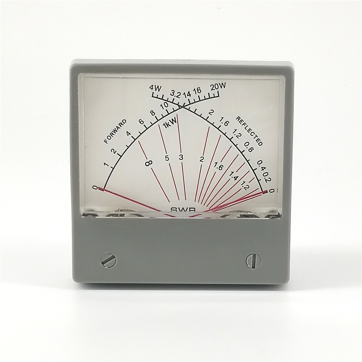 Stationary Wave Ratio SWR Meter Forwad 20W Reflected 4W 100uA Radio HF SWR Power Meter Dual Needles SZ-70-1