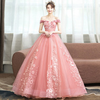 Vestidos de 15 anos Lace Appliques Tulle Ball Gowns Formal Party Dress 2019 Girl Quinceanera Dress